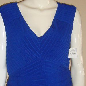 Adrianna Papell  Royal Blue Sleeveless Stretch
